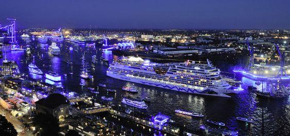 Sechs Kreuzfahrtschiffe bei den 4. Hamburg Cruise Days 2014