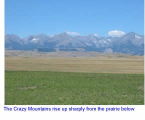 Crazy Mountains north of Big Timber, Montana