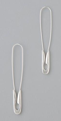 safety-pin earrings! sorta! via @Melissa Brower