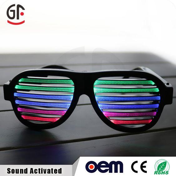 2016 neuen design hochzeit dekoration glow in the dark billige benutzerdefinierte Sound aktiviert led sonnenbrille  tina@chinaszshh.com