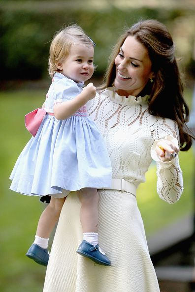 Catherine Duchess of Cambridge and Princess Charlotte of Cambridge at a children's party for Military families during the Royal Tour of Canada on...:
