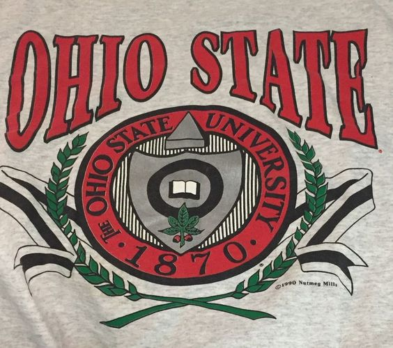 Vintage Ohio State University Large Gray Nutmeg Sweatshirt NCAA #Nutmeg #OhioStateBuckeyes