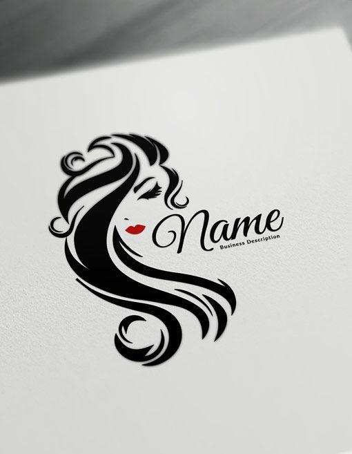 Beauty Logo Maker Free Logo Design Templates Hair Logos Beauty Logo Design Free Templates Logo Maker Free Logo Design Template
