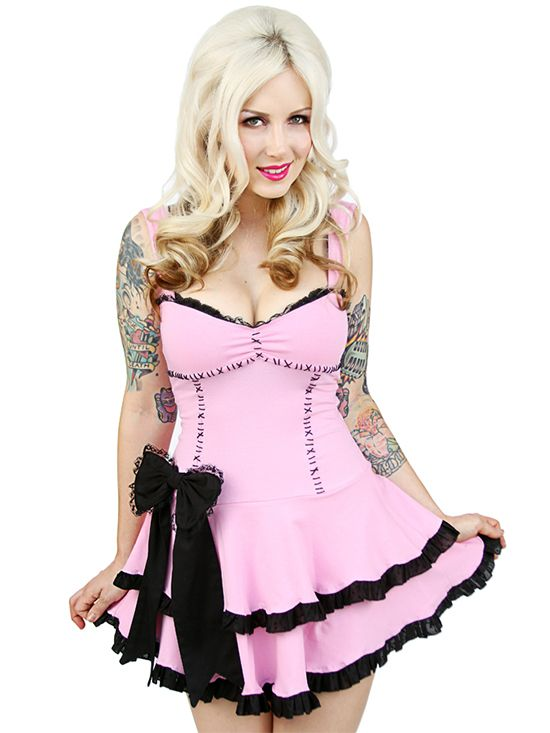 """Women's """"Anabelle"""" Dress by Jessica Louise (Pink) #InkedShop #pink #dress #bow #style #fashion"""