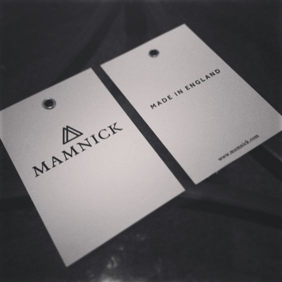 New Mamnick swing tags. Made in England.