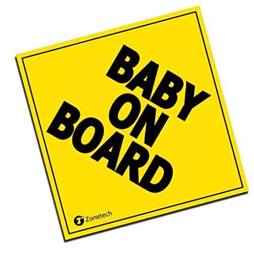 TOTOMO #ALI-001 Baby on Board Sticker Decal Safety Caution Sign for Car Windows Carlos from The Hangover funny decal bumper stickers