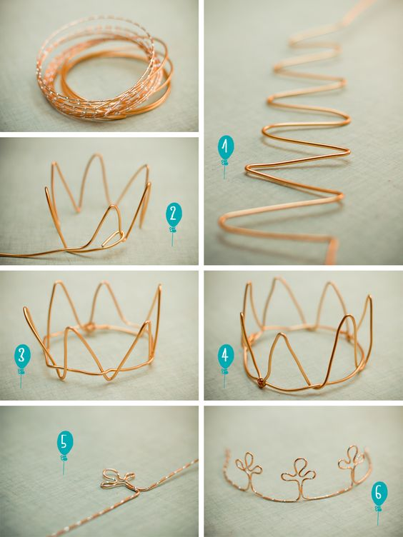 DIY: wire crown: