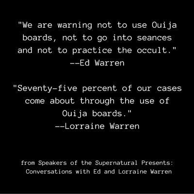 Ed & Lorraine Warren   ghost quote