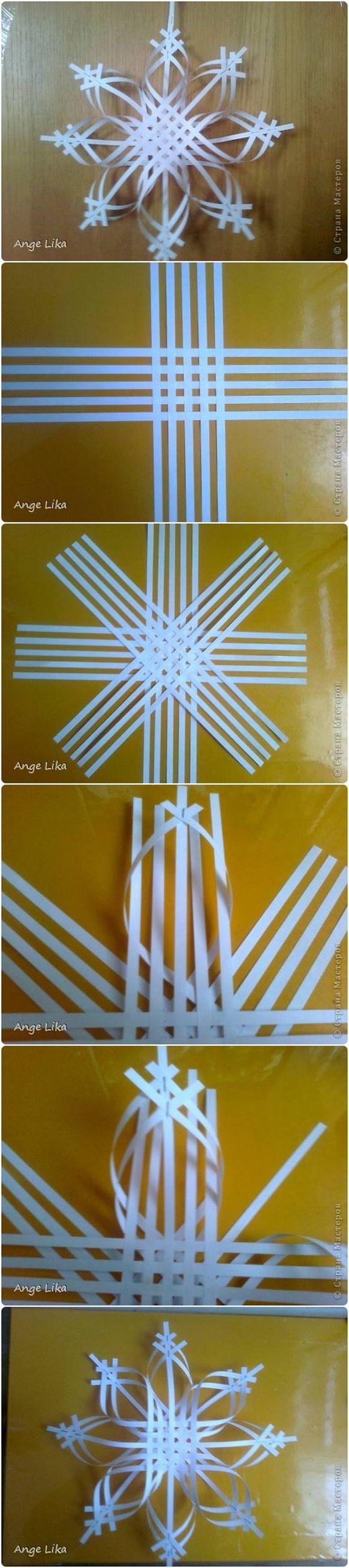 DIY 3D Paper Snowflake Christmas Ornament                                                                                                                                                     More
