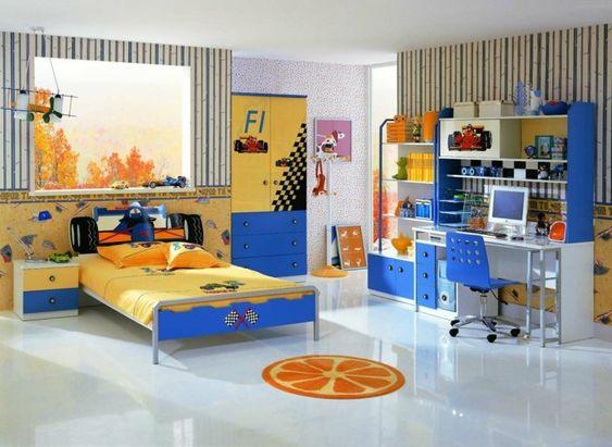 kinderzimmer junge gestaltungidee in gelb und blau formell 1 idee, Schlafzimmer design