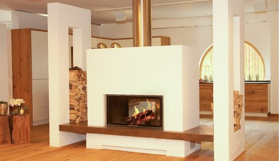 tunnelkamin mit doppelt gemauerter holzlege raumteiler kaminraumteiler ofenmodern www. Black Bedroom Furniture Sets. Home Design Ideas