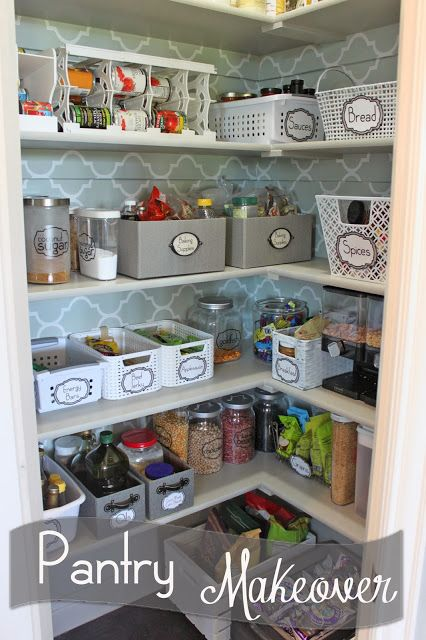 Pantry Makeover!  Full source list at end of post!