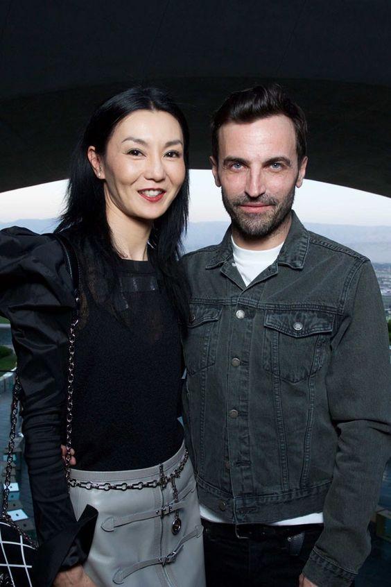 Hong Kong actress Maggie Cheung and creative director of Louis Vuitton Nicolas Ghesquière (Foto: LOUIS VUITTON)