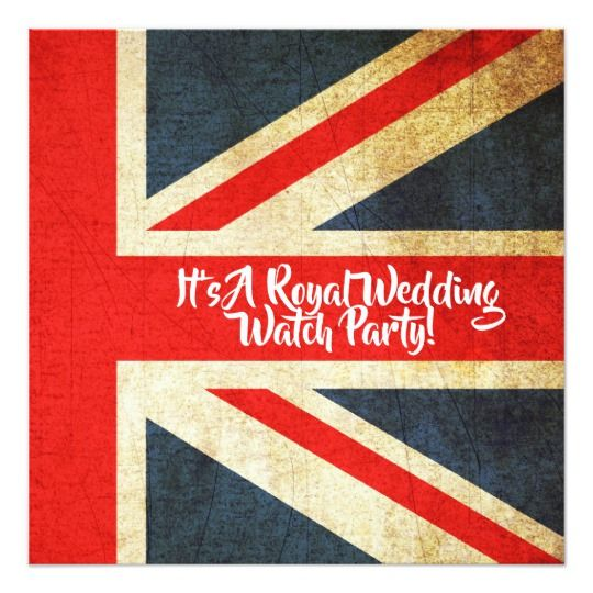 Uk Flag Royal Wedding Watch Party Invitation Zazzle Com Wedding Watch Watch Party Gifts For Wedding Party