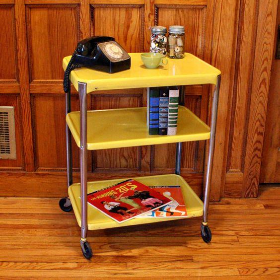 cart serving cart kitchen cart cosco rolling cart yellow