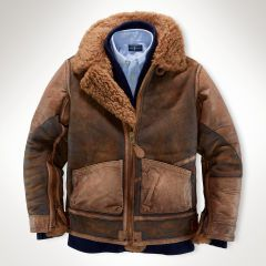 Shearling-Lined Leather Jacket - Boys 8-20 Outerwear &amp Jackets