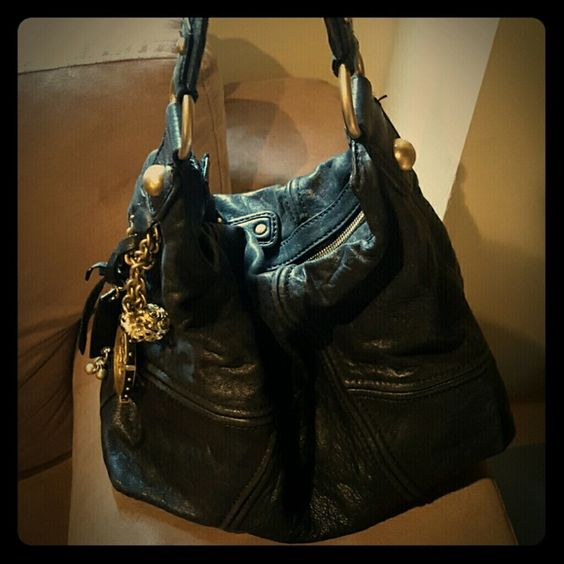 Juicy Couture Purse Black soft leather, with bronze hardware Juicy Couture Bags Shoulder Bags