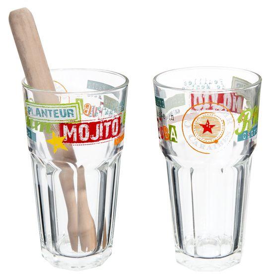 j'ai ♥] coffret 2 verres à mojito maison du monde   wishlist