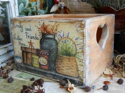 """Короб для хранения """"Счастливый дом"""" - короб для кухни,короб для хранения:"""