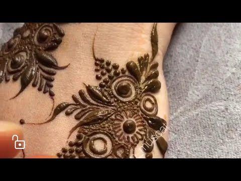 تعليم نقش الحناء فخم جدا عن طريق الدوائر بالتنقيط والاوراق لا يوفك الفيديو Youtube Khafif Designs Henna Hand Tattoo Body Art