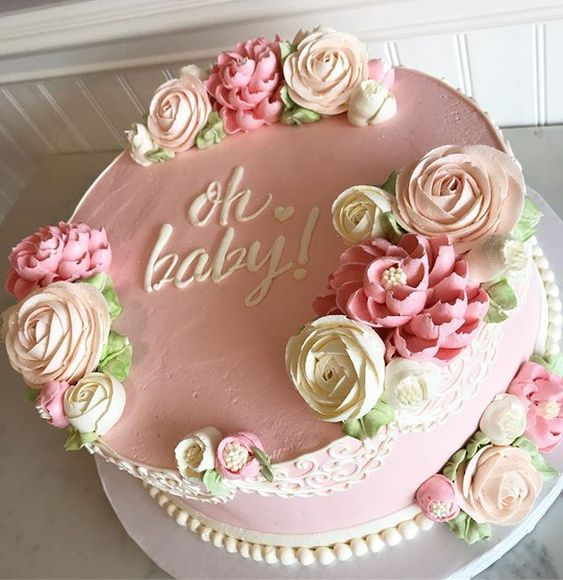 30 Gorgeous Baby Shower Cakes Ideas For Girls In 2020 Baby