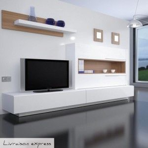 Grand meuble tv mural achat vente grands meubles tv for Grand meuble tv design