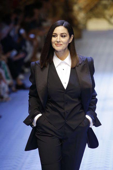 35c63a47f74 Monica Bellucci in Dolce   Gabbana S S 2019 Menswear
