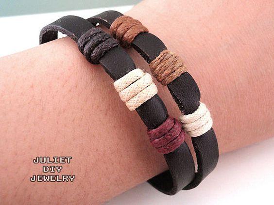 Simple leather zen bracelet by julietdiyjewelry on Etsy, $6.00