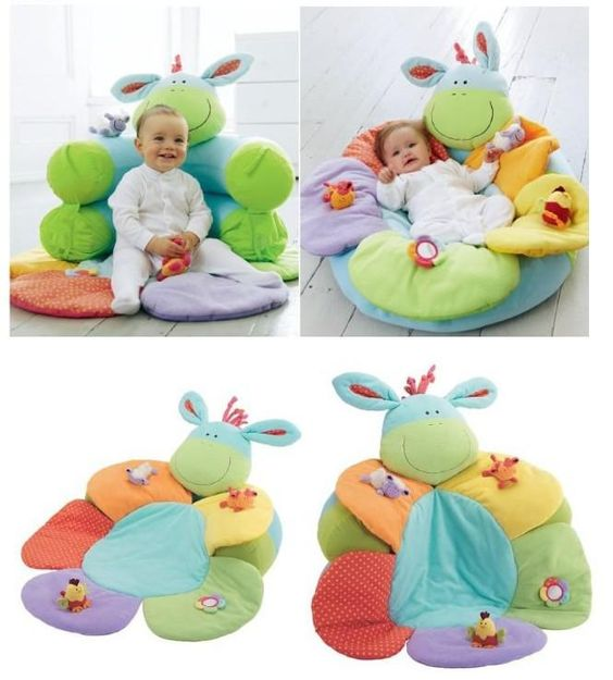 Blue Color Elc Blossom Farm Sit Me Up Cosy Baby Play Mat Nest