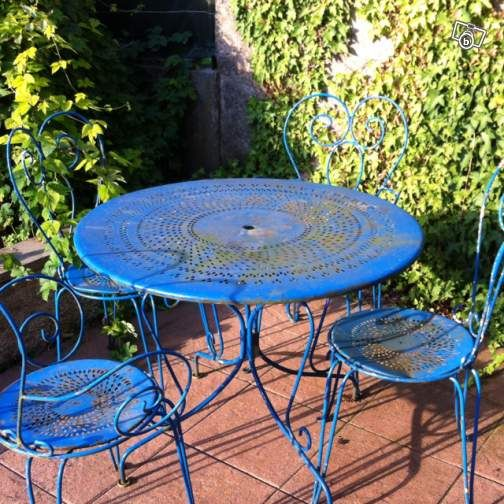 Le bon coin salon de jardin ancien fer forger for Couleur salon de jardin en fer