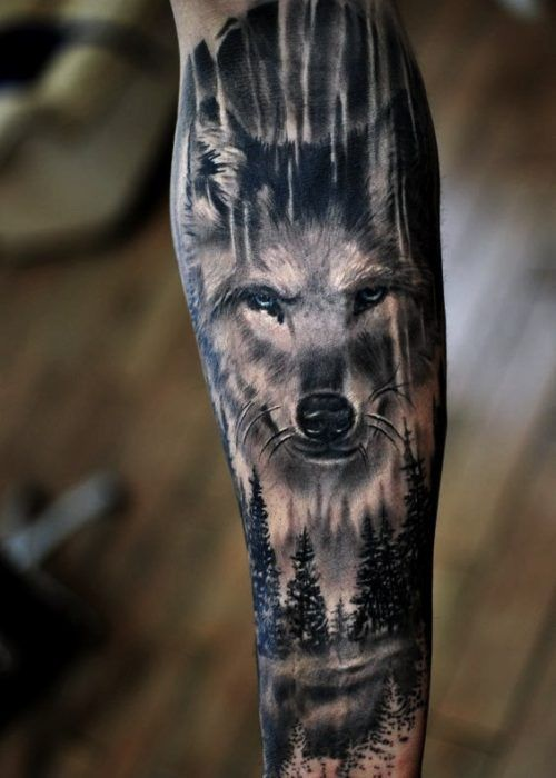 12 Imagenes de lobos para tatuajes para hombres