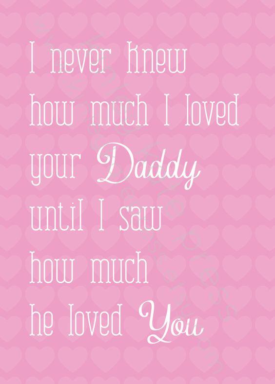 I never knew... Baby Girl Pink Print, Nursery Print, Baby GIRL, Fathers Day Gift, 5x7 Nursery Art. $12.95, via Etsy.