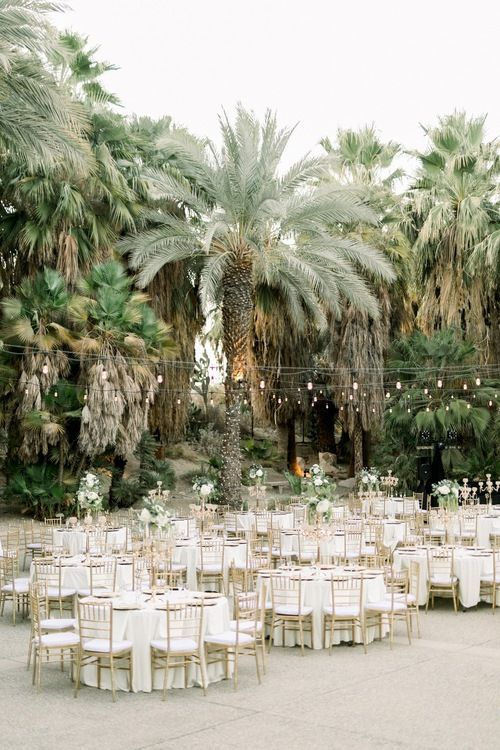 Clarissa And Christian Living Desert Palm Springs Wedding In 2020 Palm Springs Wedding Spring Garden Wedding Wedding Themes Spring