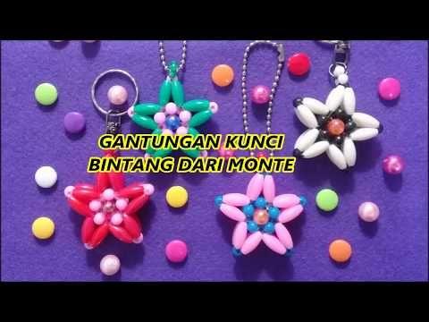35 Membuat Gantungan Kunci Bintang Dari Monte Beads Star