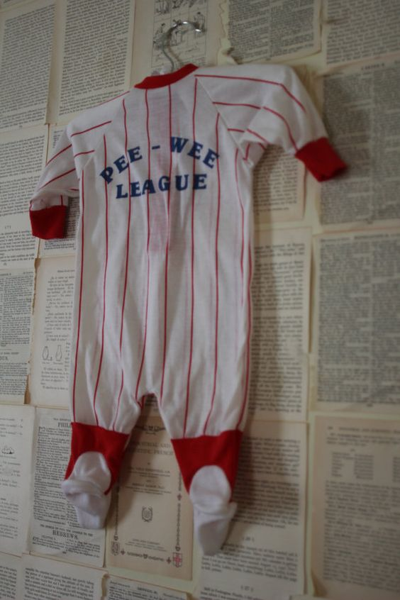 Vintage Baby Baseball Onesie Retro Footie by AudreyBlissful, $7.99