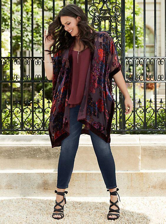 Plus Size Fall Outfit - Plus Size Kimono #plussize #fall #outfit