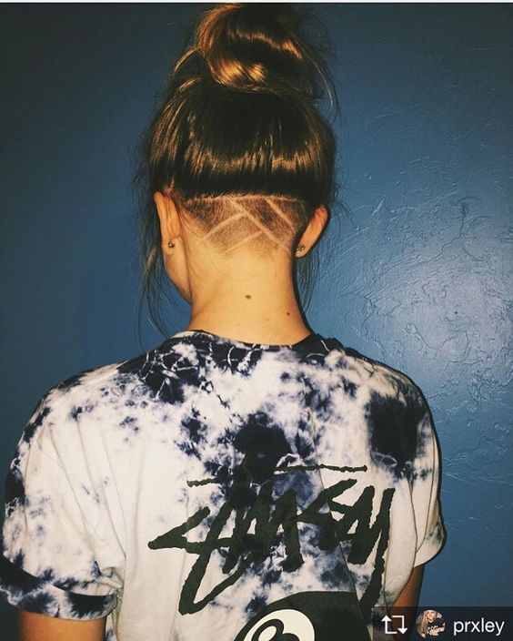30 Lovely Nape Tattoos For Girls: Pin By J O R D A N On //HAIRSTYLES