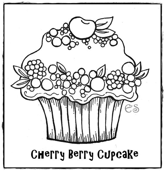 Coloring Coloring Pages For Kids And The O Jays On Pinterest Birthday Cupcake Coloring Page