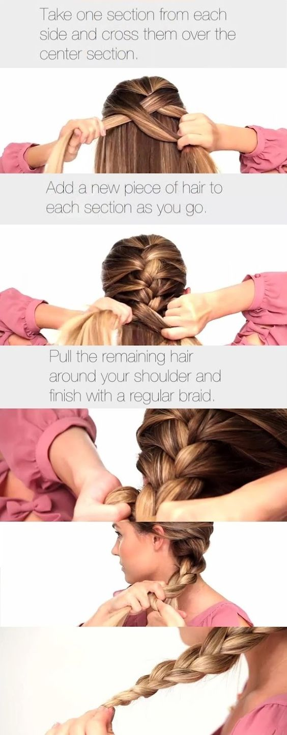Easier way to help you French braid your own hair! still trying to master this!
