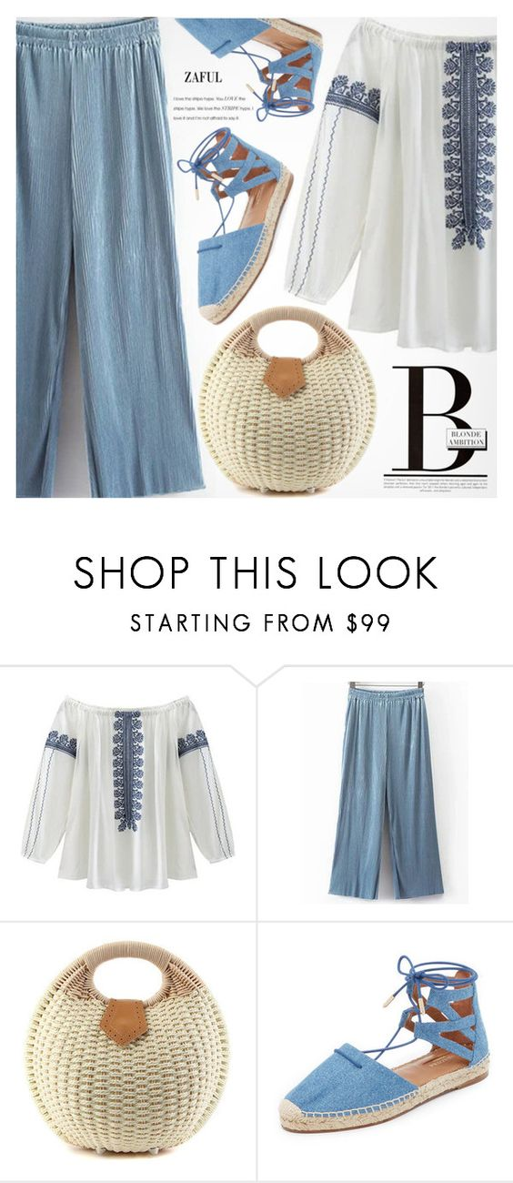 """""""Street Style"""" by pokadoll ❤ liked on Polyvore featuring Aquazzura, Blonde Ambition, polyvoreeditorial, polyvorefashion, polyvoreset and zaful"""