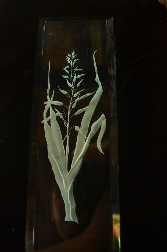 Glass carving is one of our specialties.  WWW.waynecain.com