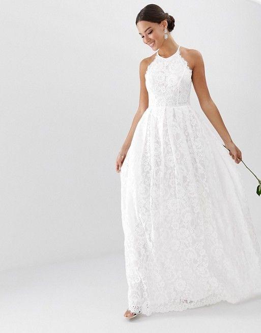 Robe De Mariee Asos Edition Robe Longue De Mariee En Dentelle Dos Nageur Weddingdress Thewedd Petite Robe De Mariee Robe De Mariee Robes De Mariee Modernes