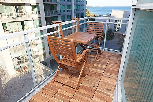Interbuild Acacia Wood Modular Deck Tiles The Home Depot Canada