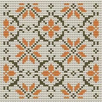 Flowers, Knitting patterns free, knitting charts and motifs - www.knitting-patterns-free.rucniprace.cz