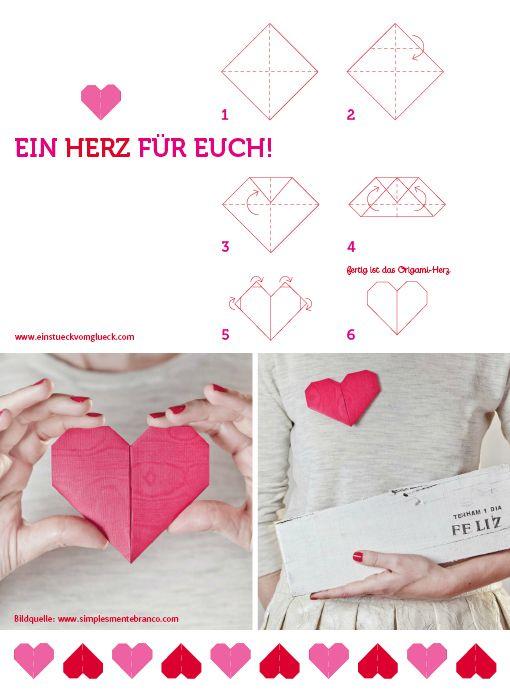 origamiherz  anleitung von Ein Stück vom Glück