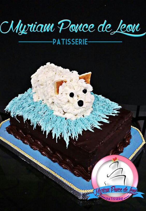 Cake con perrito comestible