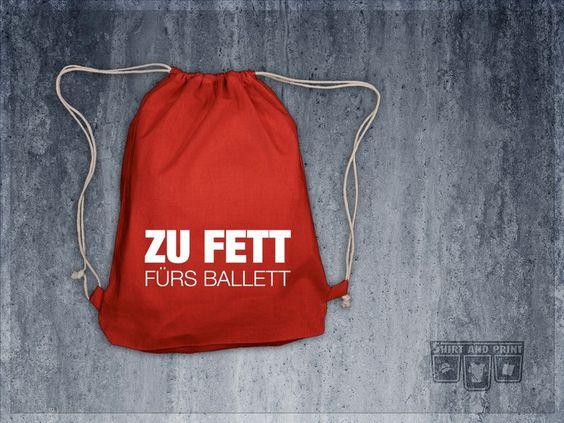 Turnbeutel Rucksack mit Spruch // quote print gym bag via DaWanda.com