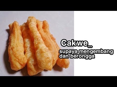 Tips Membuat Cakwe Youtiao Youtube Makanan Resep Masakan Asia Adonan
