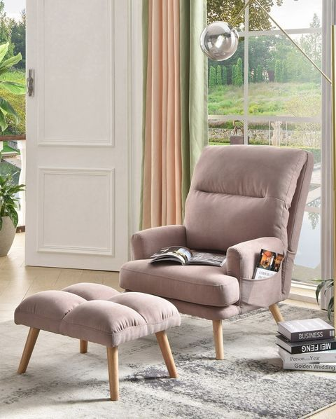 15 Cozy Chairs To Help You Kick Back And Relax In 2021 Velvet Wingback Chair Chair And Ottoman Living Room Chairs Comfortable living room chairs for