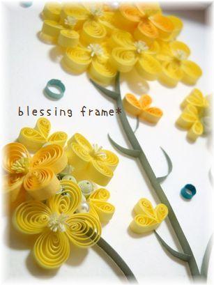 blessing frame*(ブレッシング フレーム):菜の花。